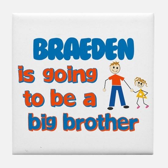 Braeden - Going to be Big Bro Tile Coaster