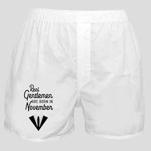 Real Gentlemen are born in November C Boxer Shorts