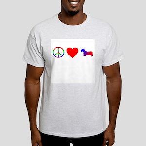 Peace Love Sealyham Terrier Light T-Shirt