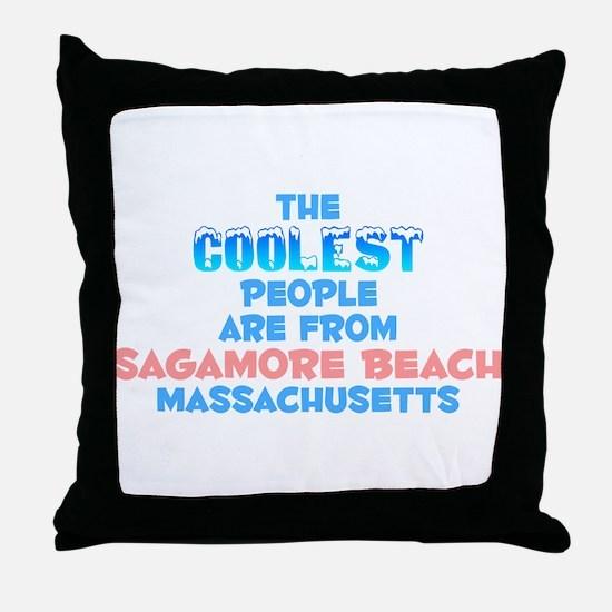 Coolest: Sagamore Beach, MA Throw Pillow