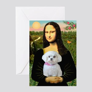 Mona's Maltese (R) Greeting Card