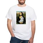 Mona Lisa / Maltese White T-Shirt