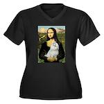 Mona Lisa / Maltese Women's Plus Size V-Neck Dark