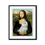 Mona Lisa / Maltese Framed Panel Print