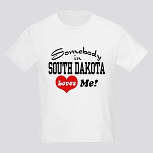 Somebody in South Dakota Loves Me Kids Light T-Shi