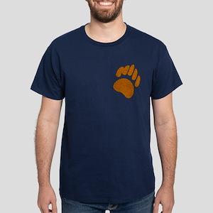 GOLDEN SPECK BEAR PAW/PKT Dark T-Shirt