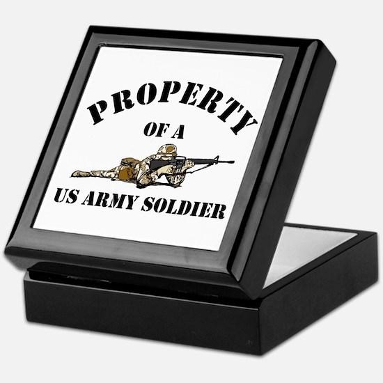 Property US Army Soldier Military Keepsake Box