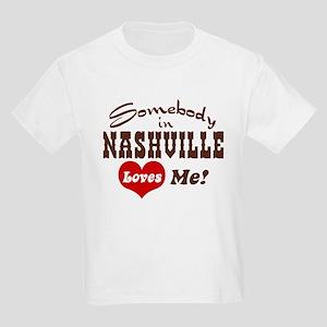 Somebody in Nashville Loves Me Kids Light T-Shirt