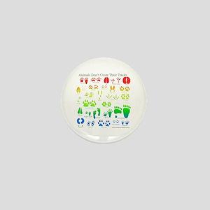 Rainbow 3D Animal Tracks Mini Button