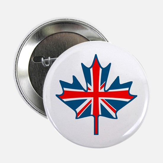 Union Jack Maple Leaf Button