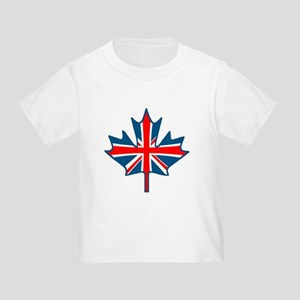 Union Jack Maple Leaf Toddler T-Shirt