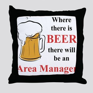 Area Manager Throw Pillow