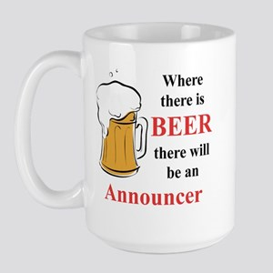 Announcer Large Mug