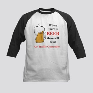 Air Traffic Controller Kids Baseball Jersey