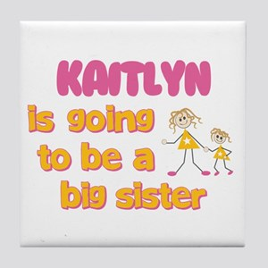 Kaitlyn - Going to be Big Sis Tile Coaster
