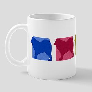 Color Row Samoyed Mug