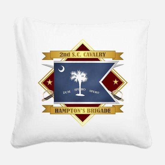 2nd South Carolina Cavalry Square Canvas Pillow