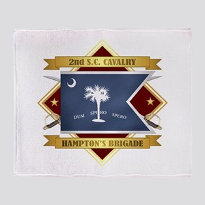 2nd South Carolina Cavalry Throw Blanket