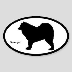 Samoyed Silhouette Sticker