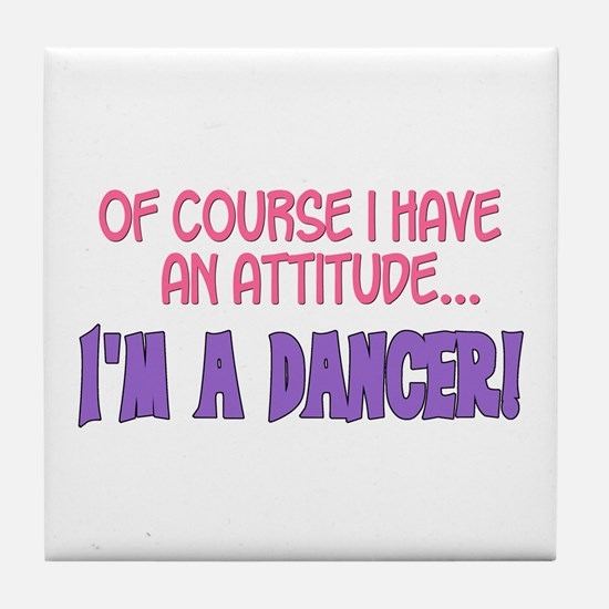 Funny Jazz dance Tile Coaster