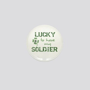 Lucky to have Soldier Mini Button