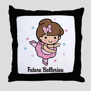 Future Ballerina Throw Pillow