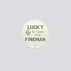 Lucky to have Fireman Mini Button