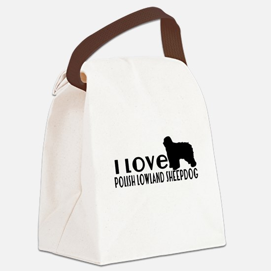 I Love Polish Lowland Sheep Canvas Lunch Bag