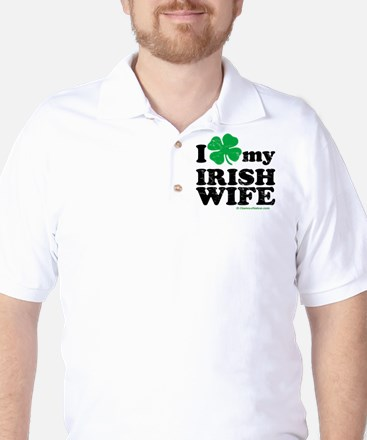 Love My Irish Wife Golf Shirt