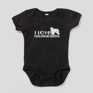 I Love Polish Lowland Sheep Baby Bodysuit