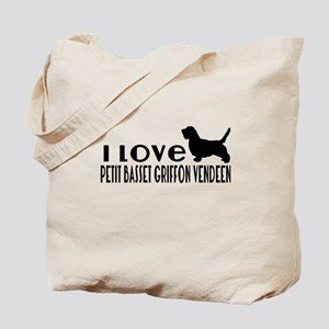 I Love Petit basset griffon vendeen Tote Bag