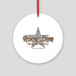 Geology Rock Star Ornament (Round)