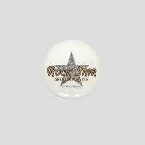 Geology Rock Star Mini Button