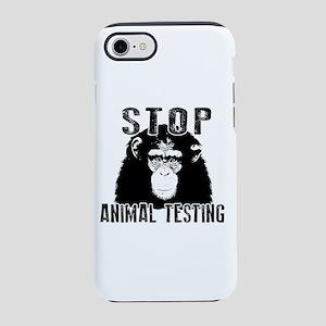 Stop Animal Testing - Chimpa iPhone 8/7 Tough Case