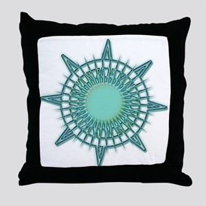Soothing Compass Throw Pillow