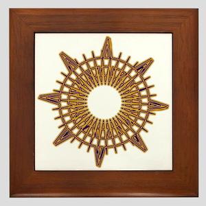 Brass Compass Framed Tile