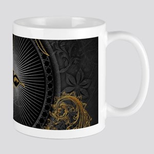 Billygoat in gold and black, awesome skull Mugs