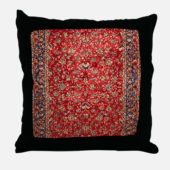 Persian Carpet Pattern Throw Pillow