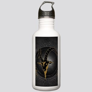 Billygoat in gold and black, awesome skull Water B