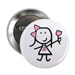 Girl & Pink Ribbon 2.25