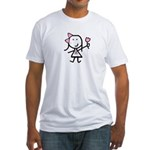 Girl & Pink Ribbon Fitted T-Shirt