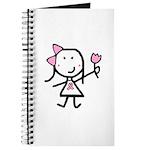 Girl & Pink Ribbon Journal