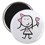 Girl & Pink Ribbon Magnet