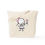Girl & Pink Ribbon Tote Bag