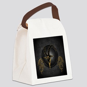 Billygoat in gold and black, awesome skull Canvas
