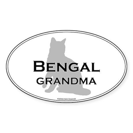 Bengal Grandma Oval Sticker