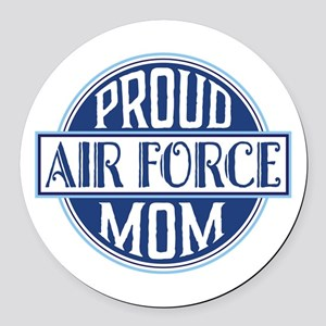 Proud Air Force Mom Round Car Magnet