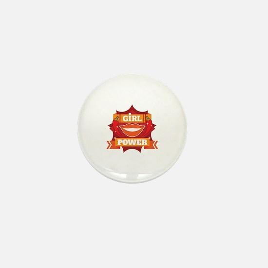 Cool Girlpower Mini Button