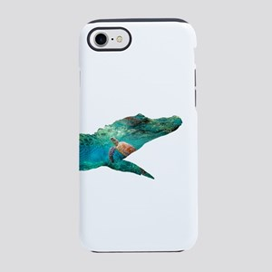 Crocodile Turtle Double Expo iPhone 8/7 Tough Case
