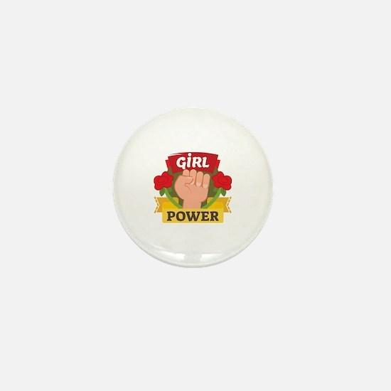 Funny Girlpower Mini Button